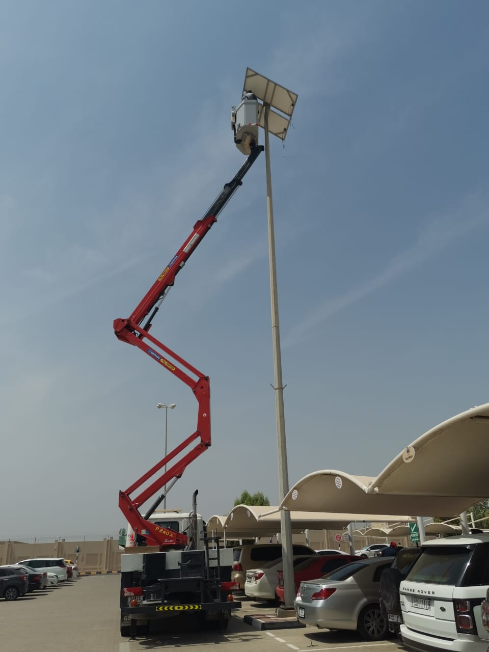 Solar street light Airport